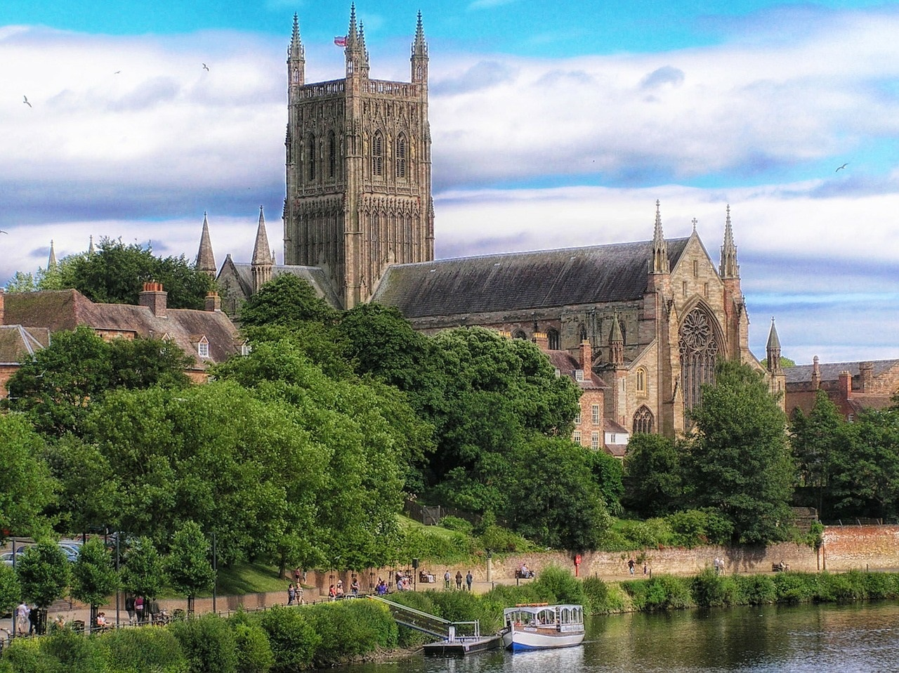 Imposing Worcestershire Cathedral