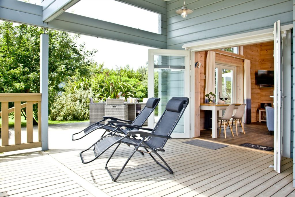 Covered decking at the Broadpath Lodge