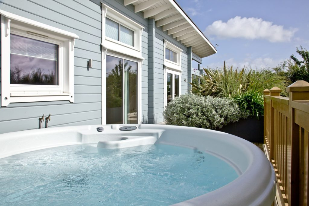 Hot tub at the Cutterbrough Lodge with Garden Views