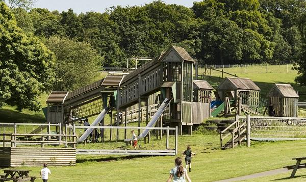 Godstone Farm outdoor adventure park area