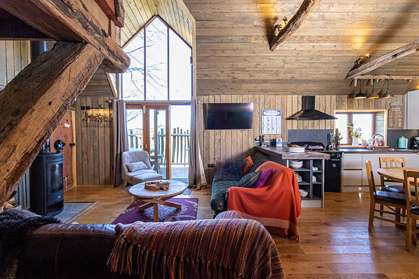 Amazing interior at Rufus's Roost Treehouse