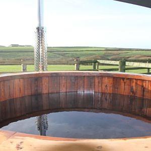 Fabulous hot tub at Higher Forda