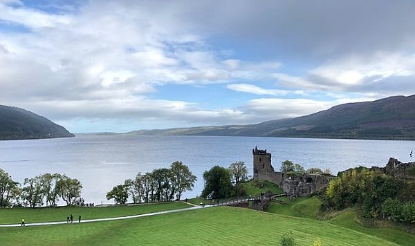 the amazing view of Loch Ness