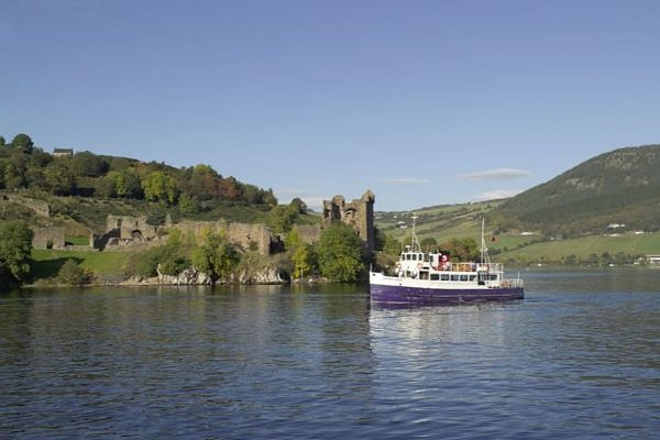 A boat in the sea of Loch ness
