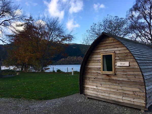 Accommodation cabin near the lake