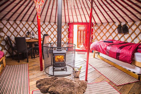 Swaledale Yurts room interior