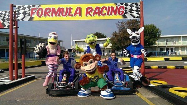 Pontin's Prestatyn Sands Holiday Park Formula Racing with Mascots