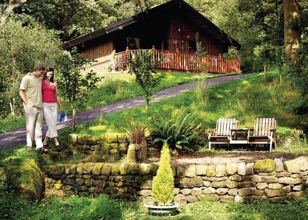 A couple roaming around Springwood Lodges